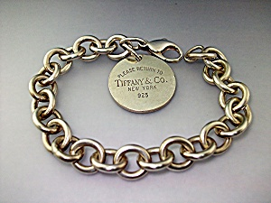 Bracelet Sterling Silver Link With Charm Tiffany & Co