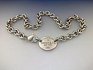 Necklace Sterling Silver Tiffany 15 3/4