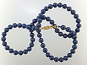 Necklace Blue Lapis 6mm Beads (Image1)