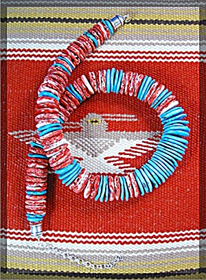 American Indian Spiny Oyster Turquoise Necklace