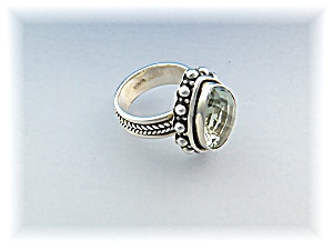 Ring Green Amethyst Sterling Silvedr pear Shape (Image1)