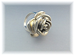 Ring Sterling Silver Rose H and N 925 Israel (Image1)