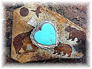 Dan Dodson Sleeping BeautyTurquoiseSterling Silver Hear (Image1)