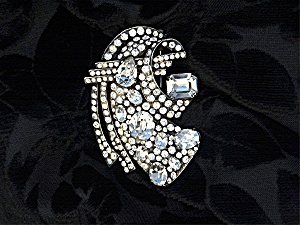 Brooch Fur Clip EISENBERG Sterling Silver Crystal (Image1)