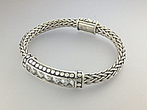 Bracelet Natural White Zircon Sterling Silver Peggy V.  (Image1)