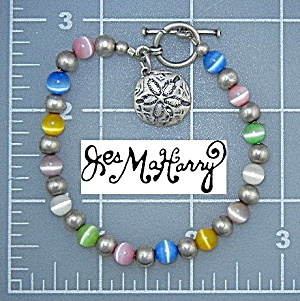 Jess MaHarry Sterling Silver Beaded Toggle Bracelet (Image1)