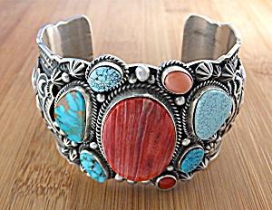 Darrell Cadman Bracelet Sterling Silver Spiny Oyster Tu (Image1)