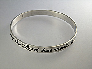 James Avery Sterling Silver Day The Lord Made Bracelet