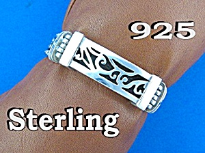 Sterling Silver 4 Row Platted Link  Bracelet (Image1)