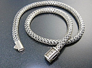 Wheat  Sterling Silver Necklace Push Clasp Indonesia (Image1)