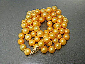 14k Gold Gold South Sea Pearls 10.5mm