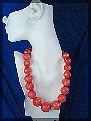 Pink Turquoise Graduated Bead Necklace