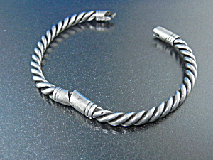 Sterling Silver Twist Bracelet 40 Grams USA (Image1)