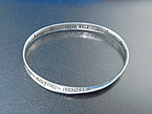Serenity Bangle Bracelet Serenity Courage Wisdom 925