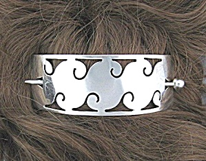Sterling Silver Mexico Hair Accessory With Pin