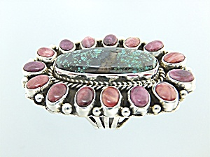 Carico Lake Turquoise Purple Spiny Oyster P Yazzie Ring