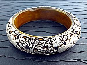 Bracelet Sterling Silver bakelite Bangle Nepal (Image1)