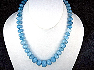 Aquamarine Faceted Graduated Beads Necklace (Image1)