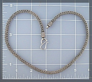 Sterling Silver Bali  Chain Necklace Signed SUARTI (Image1)