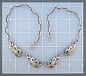 Sterling Silver Handmade Leaf Necklace (Image1)
