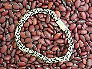 Sterling Silver Byzantine Bracelet Push Clasp (Image1)