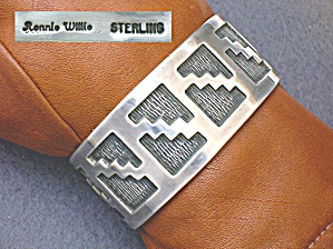 Native American Ronnie Willie Sterling Silver Cuff