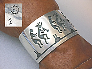 Native American Hubert Yowytewa Sterling Silver Cuff