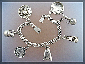 Sterling Silver Eagle 29 Charm Bracelet Temcha Mexico (Image1)