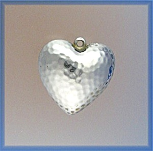Silver Puffy Heart Dimpled Pendant (Image1)