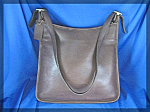 COACH  Leather Tobacco Brown Bag (Image1)