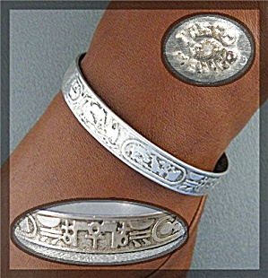 Sterling Silver Taxco Mexico Bangle Bracelet