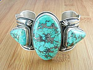 A. Cadman Bracelet Bisbee Turquoiuse Sterling Silver  U (Image1)
