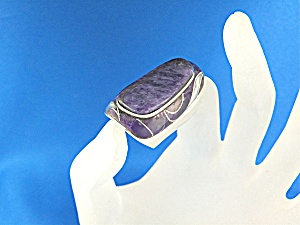 Ring Russian Charoite Inlays Sterling Silver Ed Lee