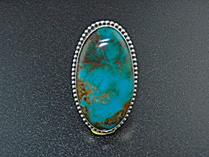 David Troutman Sterling Silver Kingman Turquoise Ring