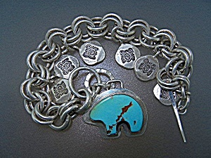 Silver Creations Sterling Silver Turquoise Charm  (Image1)