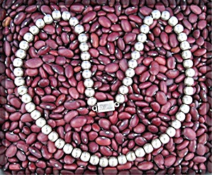 Necklace Sterling Silver  Beads Taxco Mexico 19 Inch (Image1)