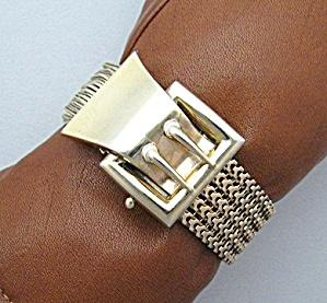 Bracelet Gold Fill Vintage Buckle Tassle   (Image1)