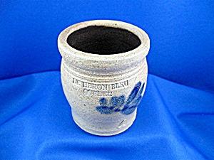 Saltglaze Blue Pottery Pot Quebec (Image1)