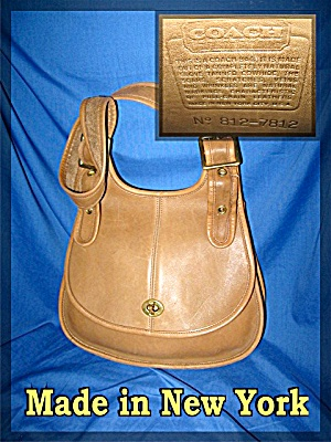 COACH British Tan Leather Purse Made In New York (Image1)