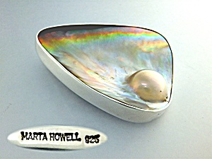 Pendant Sterling Silver Blister Pearl By Marta Howell (Image1)