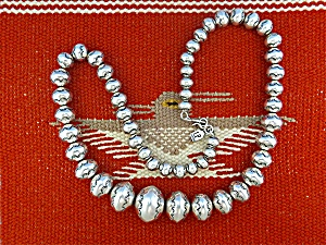 Larry Pinto Sterling Silver Navajo Pearls Native Americ (Image1)