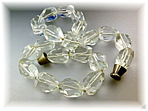 Necklace Rock Crystal Beads Magnetic Clasp