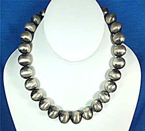 Native American Sterling Silver Oxydized Beads  (Image1)