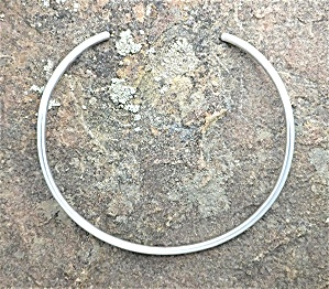Necklace Sterling Silver Rounded Collar Mexico Aage (Image1)