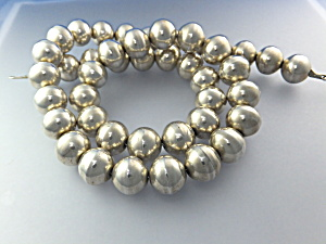 Native American Sterling Silver Beads108 Grams (Image1)