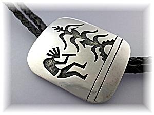 Bolo Tie Sterling Silver Kachina Corn Husk  American In (Image1)