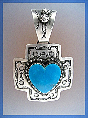 Pendant ROCKI GORMAN  Turquoise Heart Sterling Silver  (Image1)