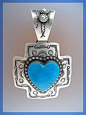 Pendant ROCKI GORMAN  Turquoise Heart Sterling Silver  (Image1)