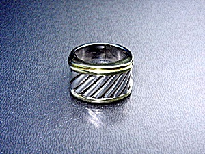 DAVID YURMAN 14K Gold Sterling Silver Ring (Image1)