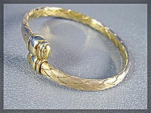 Sterling Silver Gold Vermeil Wrap Bracelet (Image1)
